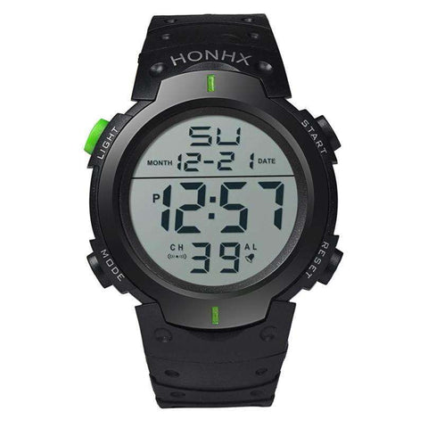 HONHX Men's Water Resistant LCD Digital Stopwatch Watch