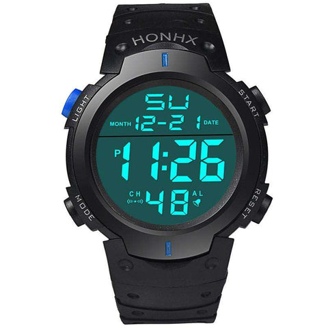 Fashion New Brand HONHX Water Resistant Watch Men's Boy LCD Digital Stopwatch Date Rubber Sport Wrist Watch