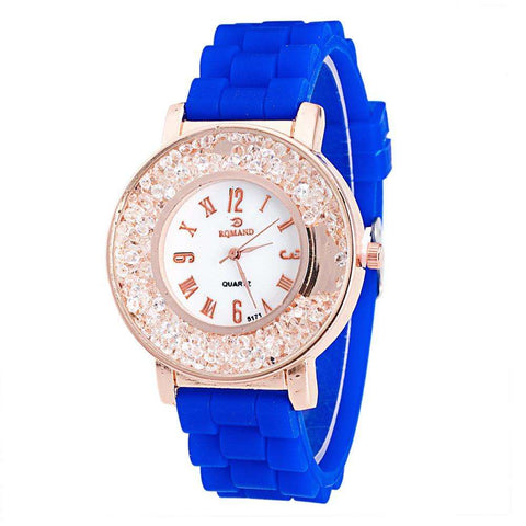 Ladies Women Watch Quicksilver Small Diamond Rhinestone Quartz Bracelet Watch Watch relogio feminino relojes mujer - Coolmart.us