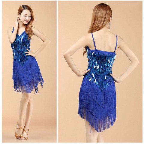 2016 New arrivals sexy fringe latin dance dress for girls cheap tassel latin dance skirt on sale 4 colors available - Coolmart.us