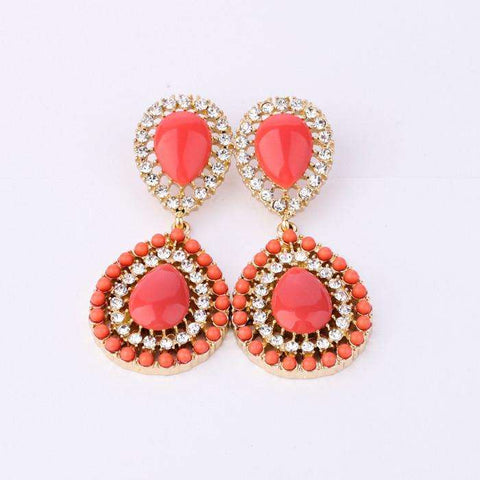 New Hot Sale Jewelry Pendants Women On Sale Top Quality Fashion Acrylic Red European Earrings
