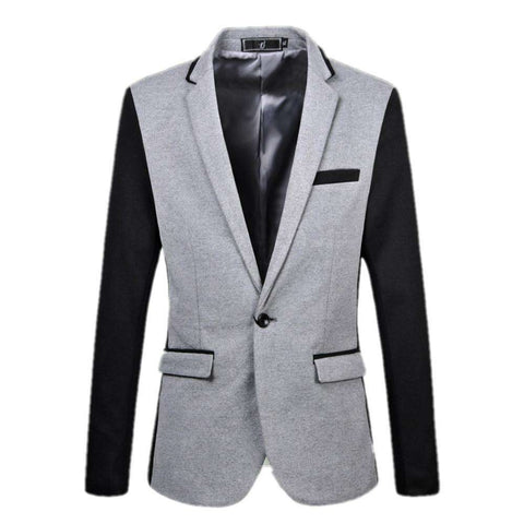 Fashion suit For men Stitching suit Casual Suit No ironing Slim Male blazer coat Spring autumn High Quality Large size Gent Life - Coolmart.us