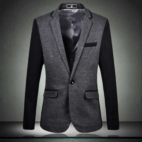 Fashion suit For men Stitching suit Casual Suit No ironing Slim Male blazer coat Spring autumn High Quality Large size Gent Life