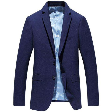 Casual Suits for Men Blue Formal Suit Solid Color Business Casual Blazer Slim Classic Coat Brand Fashion High-quality Gent Life - Coolmart.us