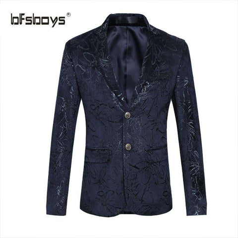 BFSBOYS Casual Suit for Men Personality Suit Brand Clothing Single-breasted Suit Fashion Blazer Male Men's Coat Gent Life - Coolmart.us