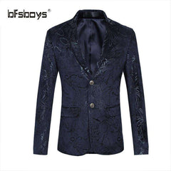 BFSBOYS Men Single-breasted Blazer
