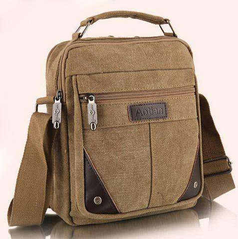 Canvas bag fashion men messenger bags high quality brand - Coolmart.us