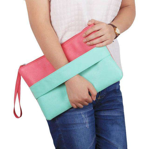 Candy Leather Day Clutches Women's Handbag