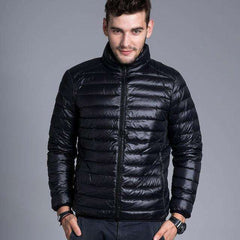 Men solid thin breathable Winter Jacket