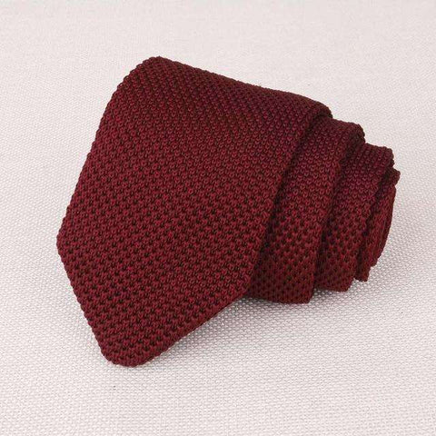 Mantieqingway Men's Suits Knit Tie Plain Necktie For Wedding Party Tuxedo Striped Woven Skinny Gravatas Cravats Accessories - Coolmart.us