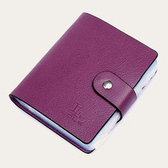 Genuine Leather Buckle Large Capacity Business ID Holders Organizer