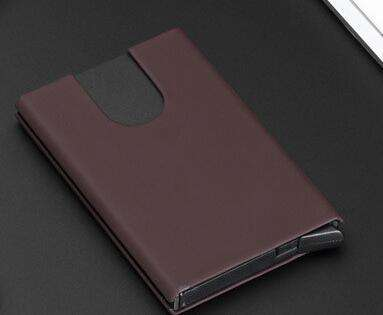 Metal Travel Card Wallet Automatic Pop up Click Slide Card Holder Stainless Steel Bank Card Case - Coolmart.us
