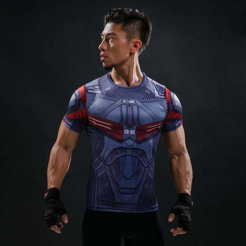 T Shirt Captain America Shield Civil War Tee 3D Printed T-shirts Men