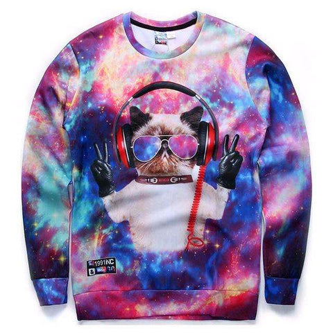 Mr.1991INC Men/Women Hoodies Loose Style Print Animals Cat Panda Rainbow Triangle Cartoon 3d Sweatshirts Plus Size 4XL 5XL - Coolmart.us