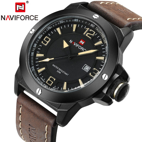 2017 New Luxury Brand Naviforce Men Classic Military Watches Men's Quartz Date Clock Male Sports Wrist Watch Relogio Masculino - Coolmart.us