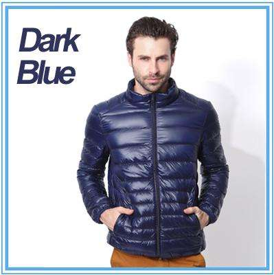 2017 winter jacket men ultra thin light Hooded down jacket collar solid jacket for male Outerwear coats plus size 4XL,5XL - Coolmart.us