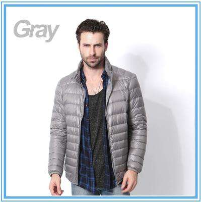 2017 winter jacket men ultra thin light Hooded down jacket collar solid jacket for male Outerwear coats plus size 4XL,5XL