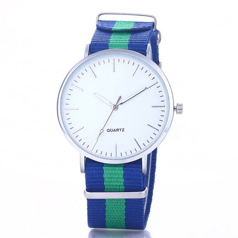 2017 New Casual and Fashion Quartz Watch with Multicolor Nylon Cloth Watchband Wristwatch Simple Designer Women Clock Orologio - Coolmart.us