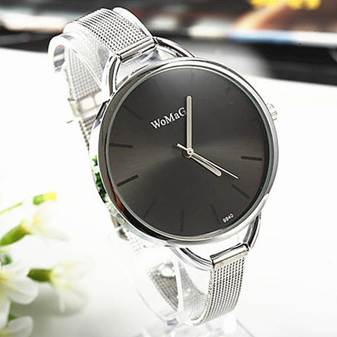 2017 Luxury Golden Women Dress Wrist Watches Brand Womage Ladies Ultra Slim Stainless Steele Mesh Mini Bracelet Quartz Watch - Coolmart.us
