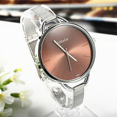 Allison Slim Stainless Steele Mesh Mini Bracelet Watch