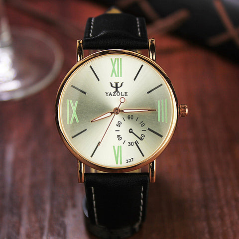 2017 Yazole Watch Fashion Student Leisure Men Watches Business Men Luminous Roman Designer Watch Relogio Masculino Quartz-watch - Coolmart.us