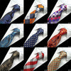 Image of GUSLESON Silk Men Tie 8cm Plaid Paisley Neck Ties for Men Necktie Classic Wear Business Wedding Tie Party Gravatas 1200 Needles - Coolmart.us