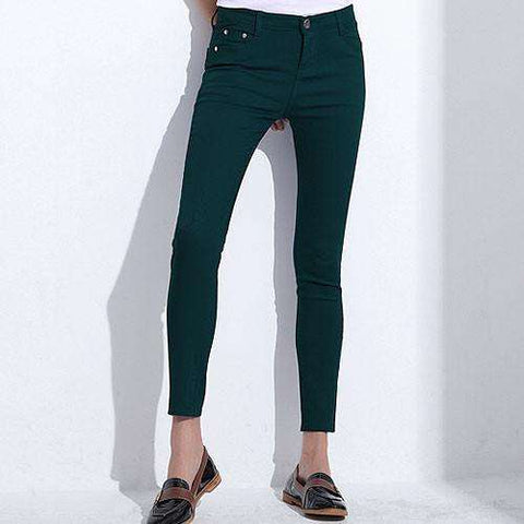 GAREMAY Women's Candy Pants Pencil Trousers 2017 Spring Fall Khaki Stretch Pants For Women Slim Ladies Jean Trousers Female 1010 - Coolmart.us