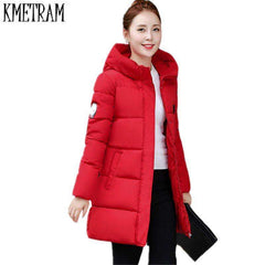 Image of 2017 New Winter Jacket Women Hooded Thicken Coat Female fashion Warm Outwear Down Cotton-Padded Long Wadded Jacket Coat Parka