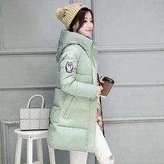 Winter Jacket Women Hooded Warm Cotton-Padded Long Wadded Jacket