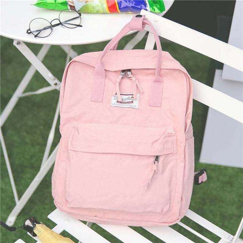High Quality Women Backpack for School Teenagers Girls Vintage Stylish School Bag Ladies Cotton Fabric Backpack Female Back Pack