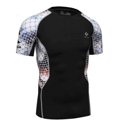 3D Printed T-shirts Men Compression Shirt Men's MMA Tshirt Short Sleeve Quick dry Workout Bodybuilding Fitness Tops T shirt - Coolmart.us