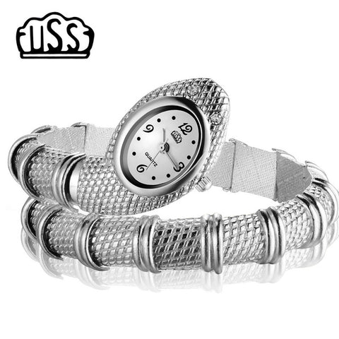 2017 New CUSSI style Snake Shaped watch Fashion Watch bracelet watch unique Design Women dress watches Girl relogio feminino - Coolmart.us
