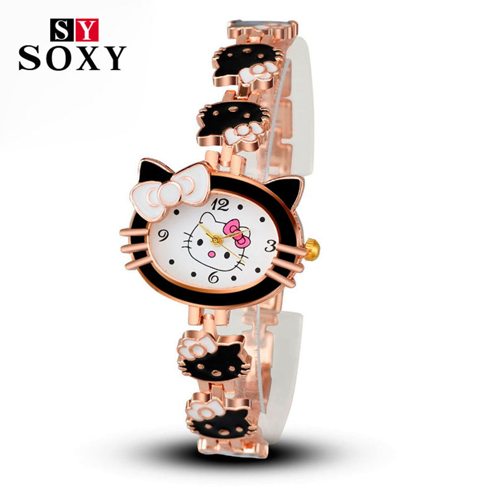68c179793 2017 New Brand Hello Kitty Cartoon Watches Women Children Dress Quartz  Wristwatch Kids Hellokitty Watches Girls ...