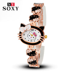 2017 New Brand Hello Kitty Cartoon Watches Women Children Dress Quartz Wristwatch Kids Hellokitty Watches Girls Montre Enfant - Coolmart.us
