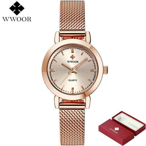Brand Luxury Women Watches Ladies Casual Quartz Watch Female Clock Silver Stainless Steel Bracelet Dress Watch relogio feminino - Coolmart.us