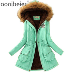 Women Fur Collar Coats Winter Jackets