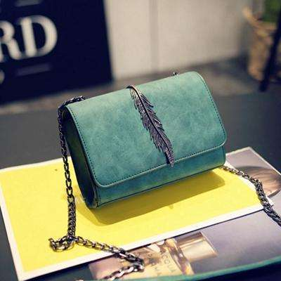 Cross Body Bags for Women Chain Vintage Plain Clutch Leaf Shoulder Bag Sac Pochette Femme Enveloppe Bolsas Pequenas Transversal