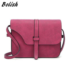 Bolish 2017 Fashion Women's Handbag Bag Small Crossbody Bags Vintage Spring Women Shoulder Bag Nubuck Leather Women Bag - Coolmart.us