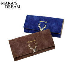 Mara's Dream 2017 Fashion Wallet Female Women Purse Long Zipper Solid Candy Color Metal Christmas Deer Wallets PU Card Holders - Coolmart.us