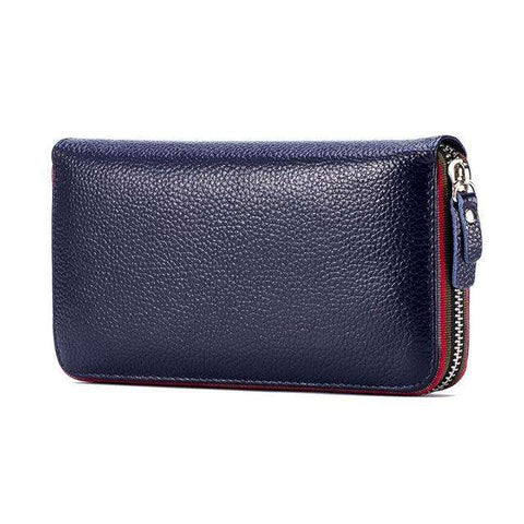 New design fashion women wallet rear genuine leather wallet cow leather purse female casual clutch money clips colors - Coolmart.us