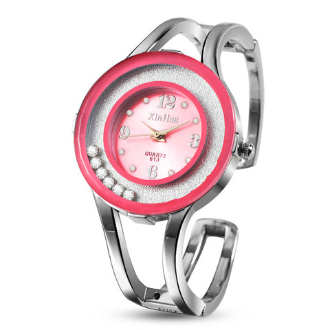 2017 XINHUA Fashion Watches Women Stainless Steel Bracelet Bangle Rhinestone Luxury Party Dress Female Clock Relogios Feminino - Coolmart.us