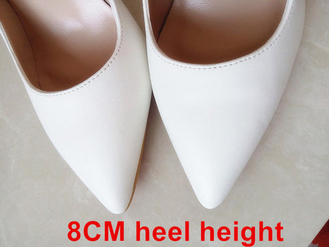 Brand Shoes Woman High Heels Women Shoes Pumps Stilettos Shoes For Women Black High Heels 12CM PU Leather Wedding Shoes B-0051 - Coolmart.us