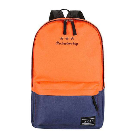 New Arriving Women Polyester Fiber Backpack Preppy Style Teenagers School Bags Girls Laptop Trave Patchwork Backpack - Coolmart.us