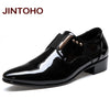 Image of JINTOHO Italian Leather Slip On Pointed Toe Shoes For Men