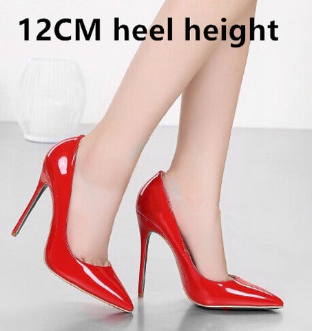 Brand 12CM High Heels Shoes Woman High Heels Pumps Wedding Bridal Shoes Black Heels Women Shoes High Heels Women Pumps B-0159