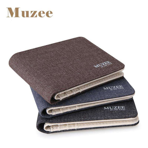 2017 New Retro Man Canvas Wallets Male Purse Fashion Card Holders Small Zipper Wallet New Designed Multi Pockets Purse For Male - Coolmart.us