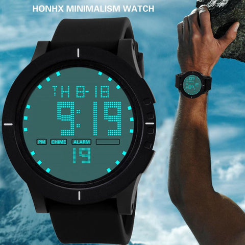 2017 Watch Men Fashion Military Silicone LED Digital Watch Date Sports Watch For Men WristWatches digitale horloges mannen #502 - Coolmart.us