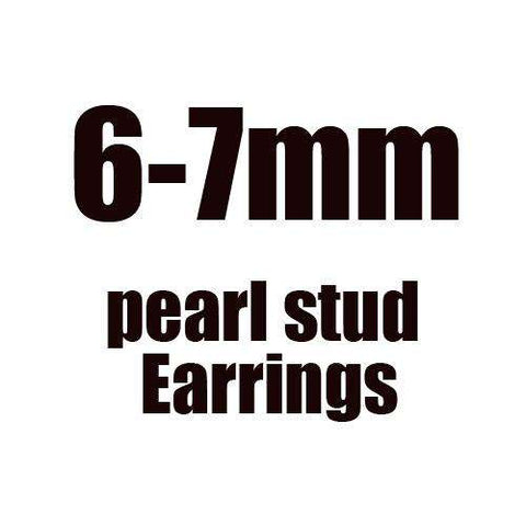 DAIMI Black Earrings  4 Size Black Freshwater Pearl Stud Earrings 925 Sterling Silver Earrings - Coolmart.us