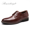 Image of BIMUDUIYU  Men Brogues Lace-Up Dress Shoes Plus Size 38-48