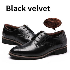 BIMUDUIYU High Quality Oxford Shoes Men Brogues Shoes Lace-Up Bullock Business Dress Shoes Male Formal Shoes Plus Size 38-48